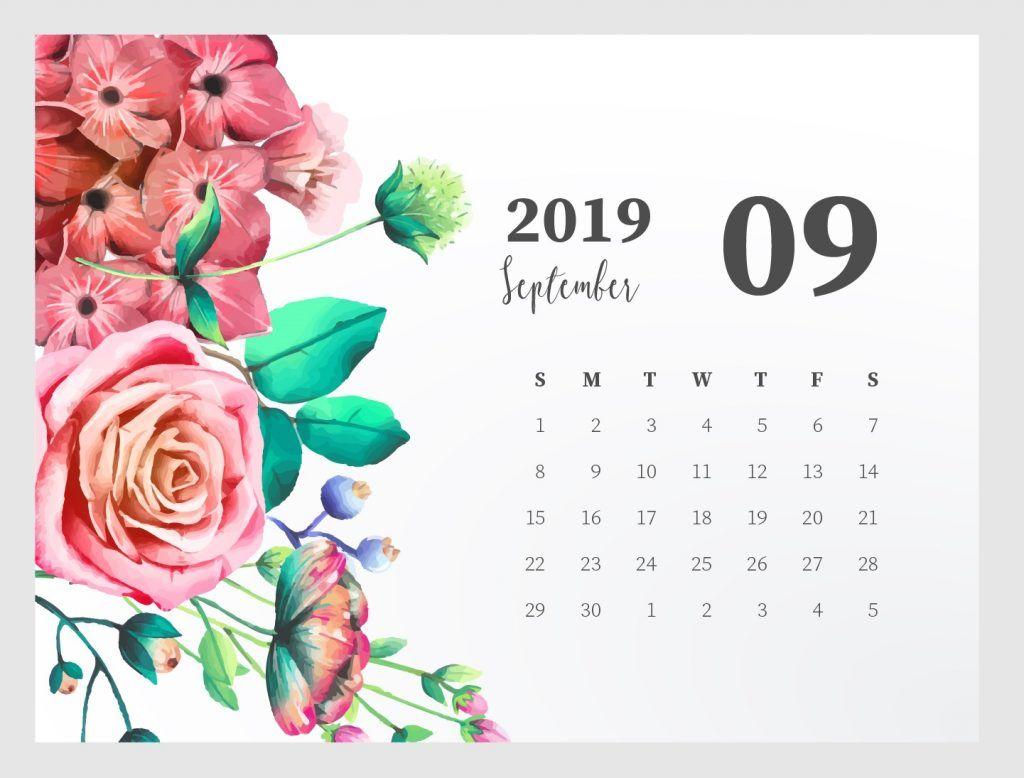 Cute 2019 Monthly Calendar Kalendar Dlya Pechati Kalendar Sentyabr