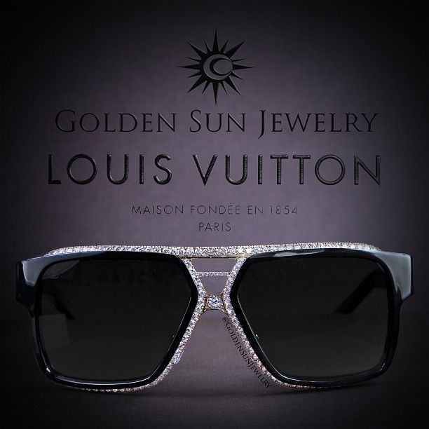 81dd1199980 GOLDEN SUN JEWELRY  Louis Vuitton sunglasses done the Golden Sun Jewelry  way for THE CHAMP