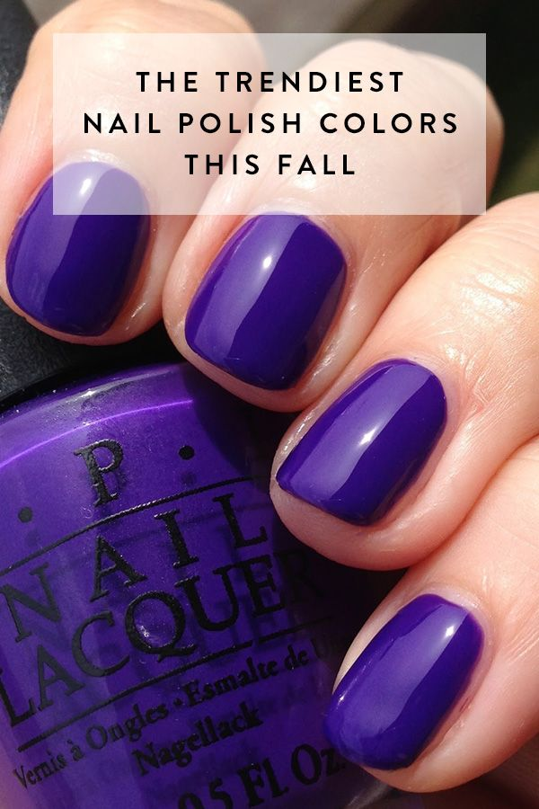 The Trendiest Nail Polish Colors This Fall | Nail polish colors ...
