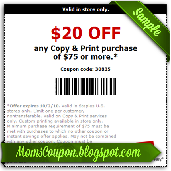 Coupon code staples