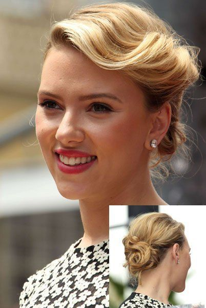 Chignon rétro de Scarlett Johansson Chignon rétro