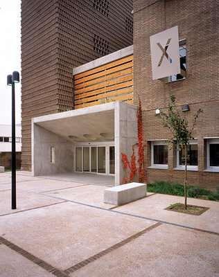 Entrada de edificios modernos