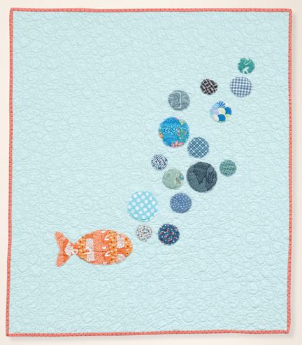 Emily?  Make in grown up size with great left over scraps. Bubbles quilt. Modern baby.