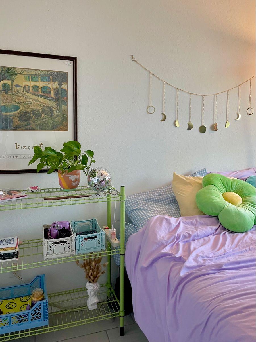 danish pastel aesthetic room colorful room