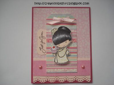 Creations by Shirl: Just for You!  **** Sister Stamps available from www.hankodesigns.com