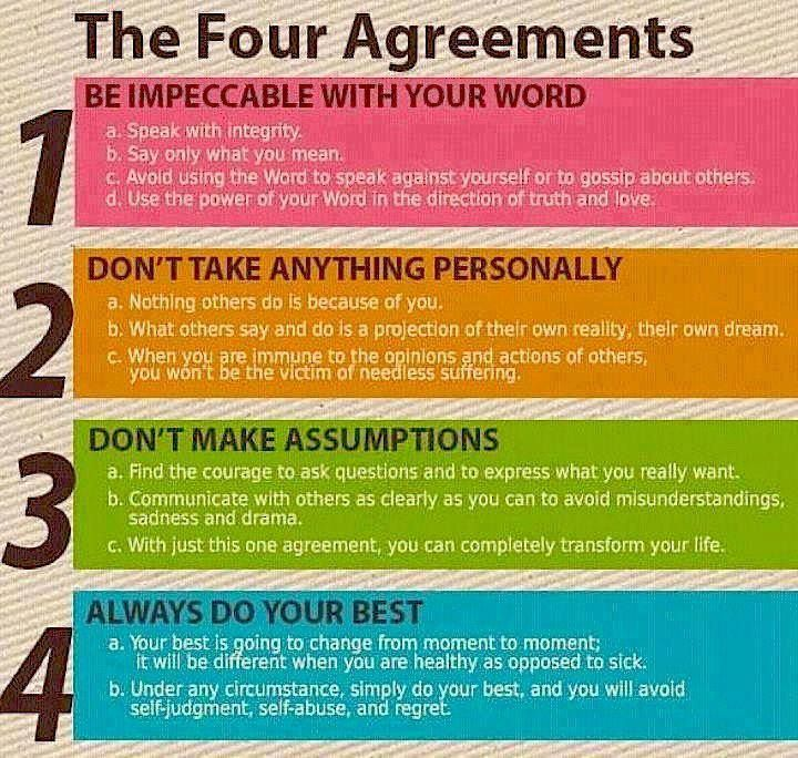 Stay Positive and just know you are awesome and everything will be - agreement in word