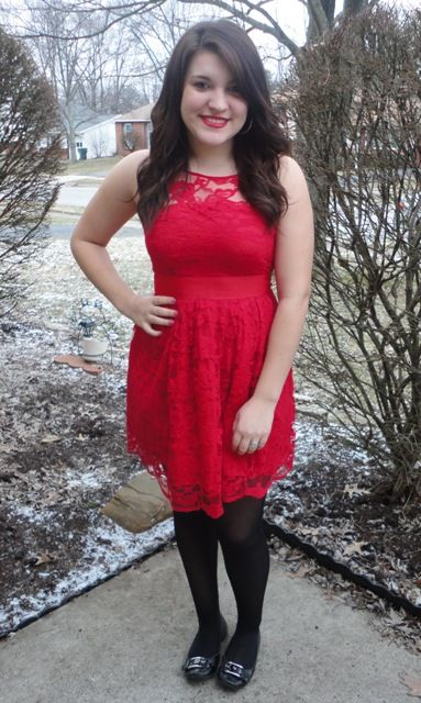 Red Lace Dress And Black Tights Nice Dresses Lace Dress