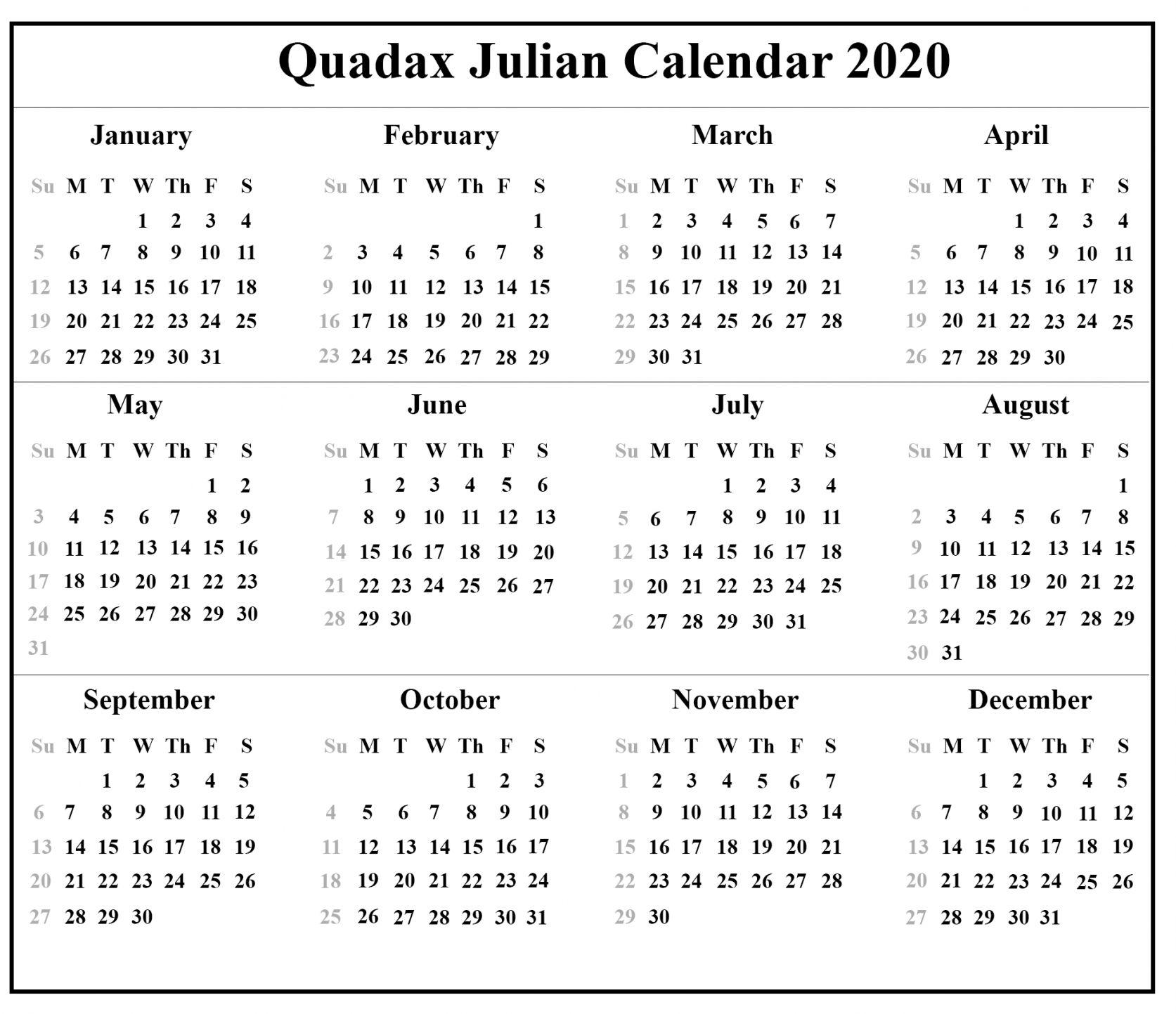 Printable Julian Date 2021 Templates Di 2020 Dengan Gambar