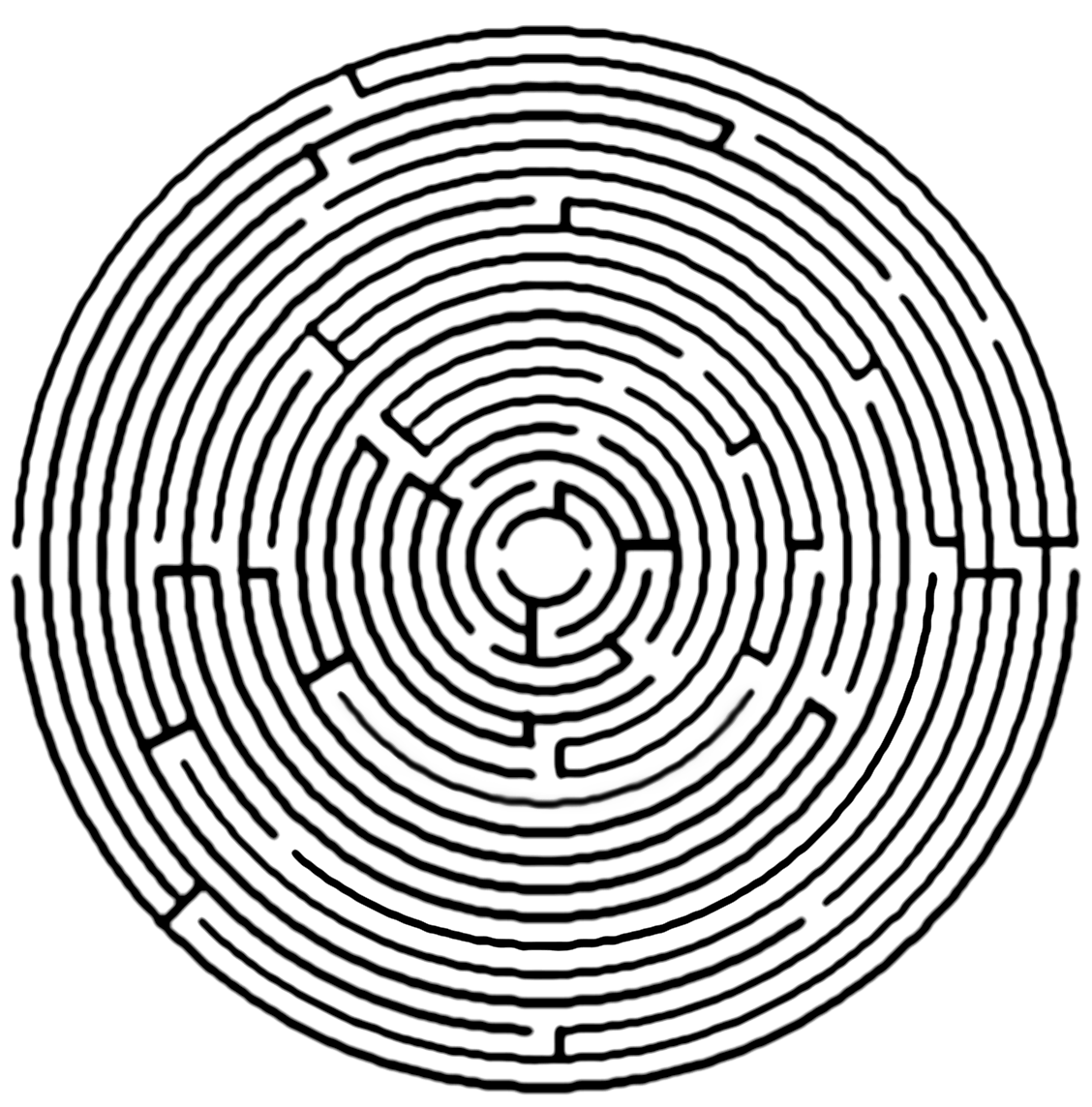 Circle Maze - DopePicz | Calendars, Labyrinths, clocks ...