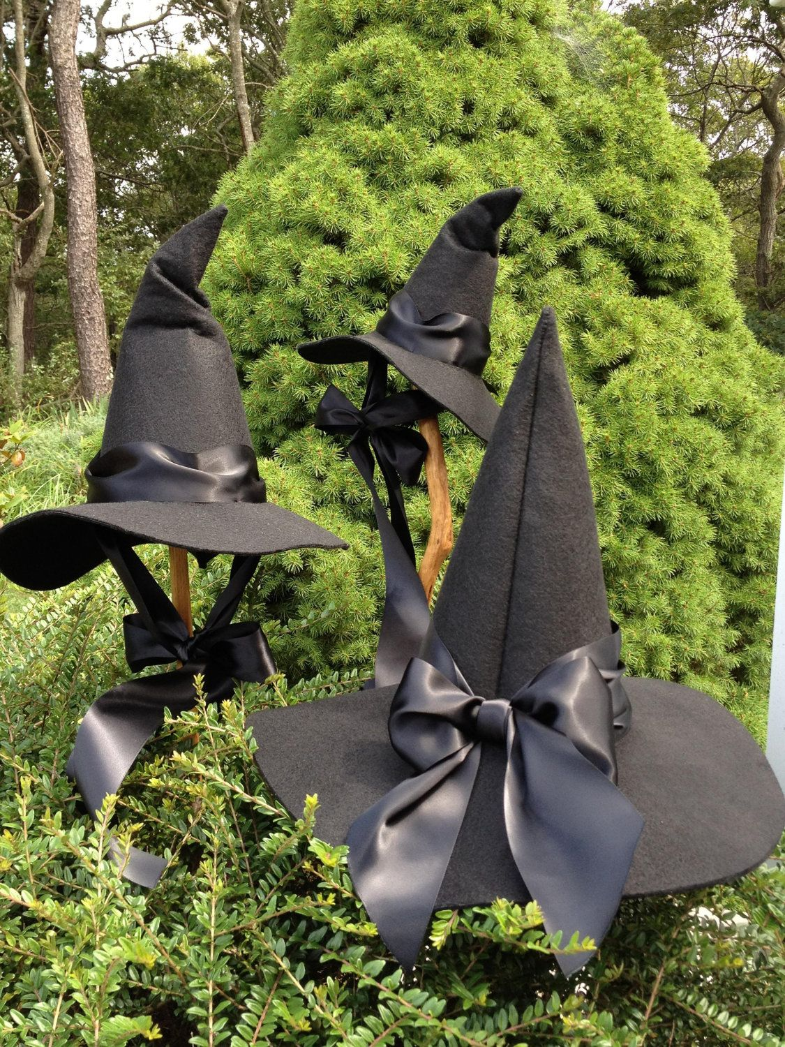 Black Felt Witch Hat - Adult Witch Hat - Witch Costume | Wool ...