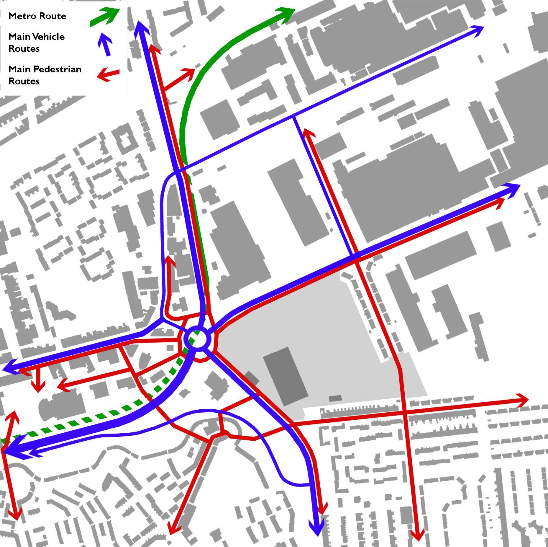 Urban Design Character Analysis : Movement analysis of fossway development site newcastle
