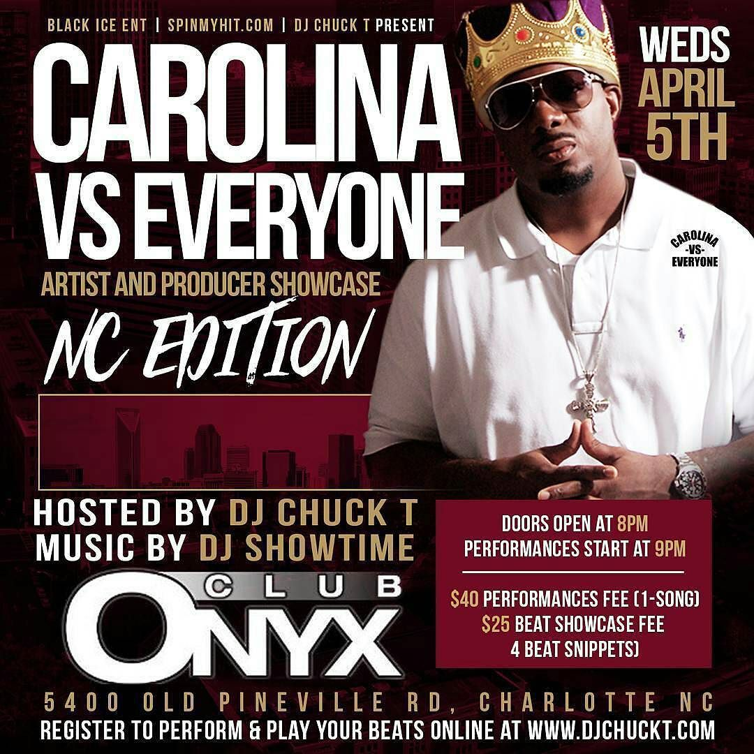 Regrann From Djchuckt The 1 Artist Producer Showcase In Nc Returns Wed April 5th Sign Up To Perform Or Showcase Your Beats At The Caro Songs Mr Djs