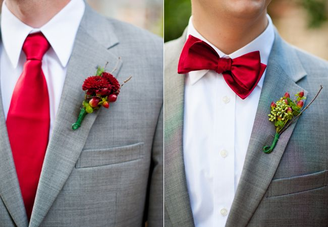 Fashion style Suit Grey red tie wedding for lady