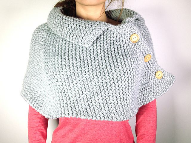 Ravelry Loom Knitted Poncho Cape Pattern By Tuteate Knitting