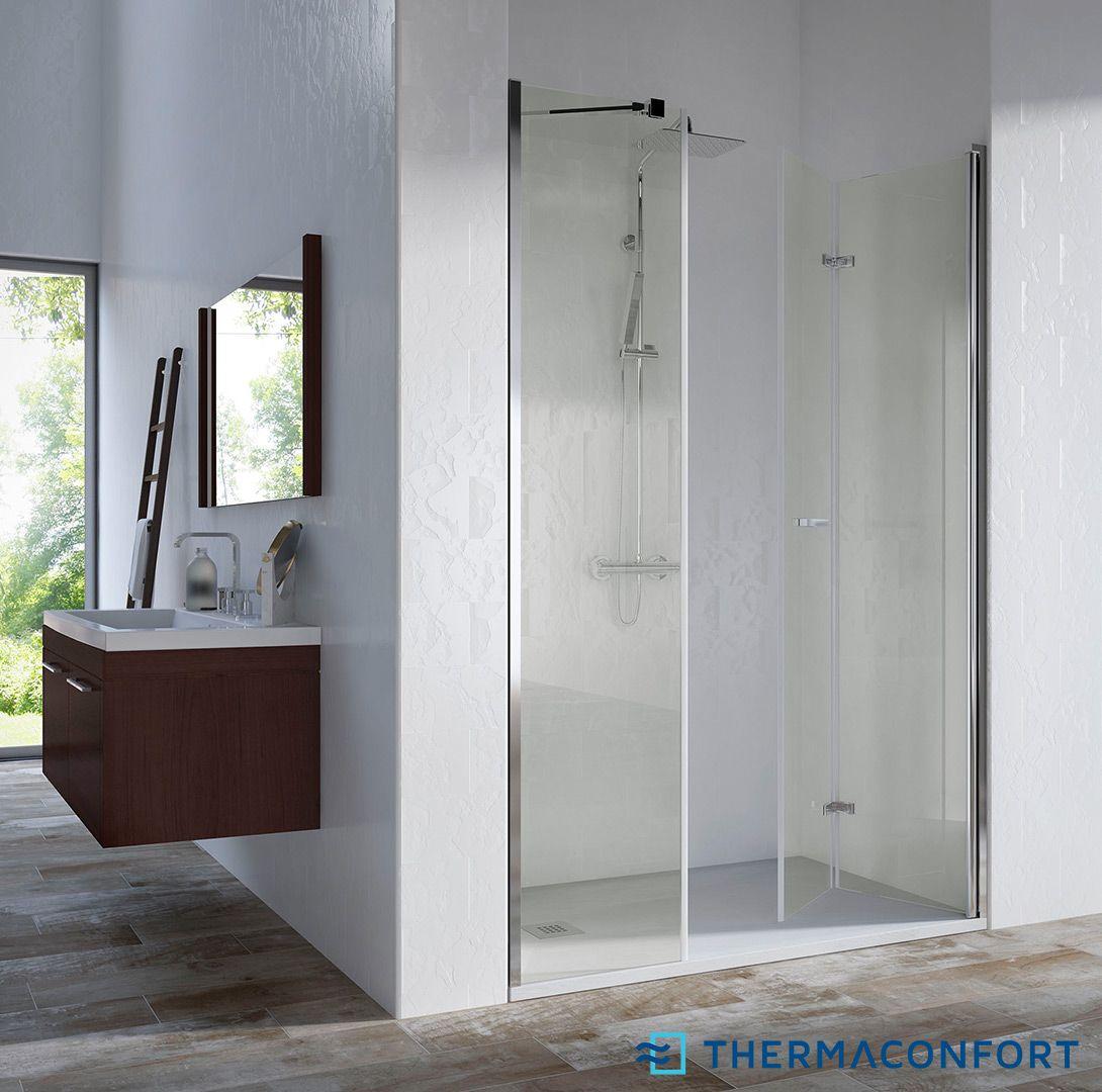 Mamparas de ducha frontales aqua duchas mampara y - Mampara ducha plegable ...