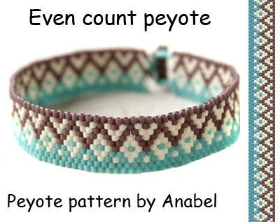Even count peyote pattern #144 Delica bead pattern Beaded jewelry ...