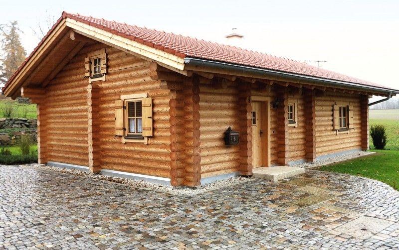 Wohnhaus Mit 25 Cm Stammstarke Haus Blockhaus Ferienhaus Blockhaus