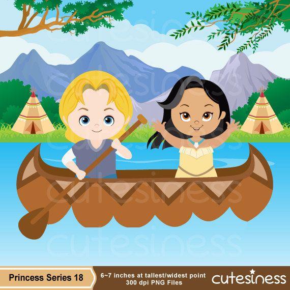 Princess Clipart Princess Digital Clipart Pocahontas