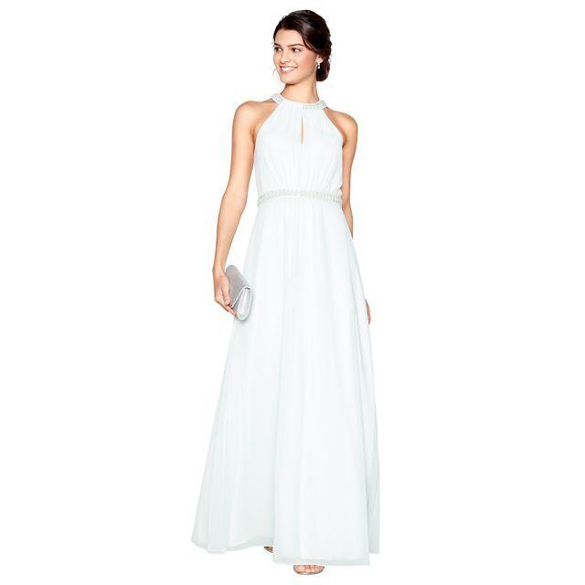 pale green chiffon 'lucinda' embellished full length dress