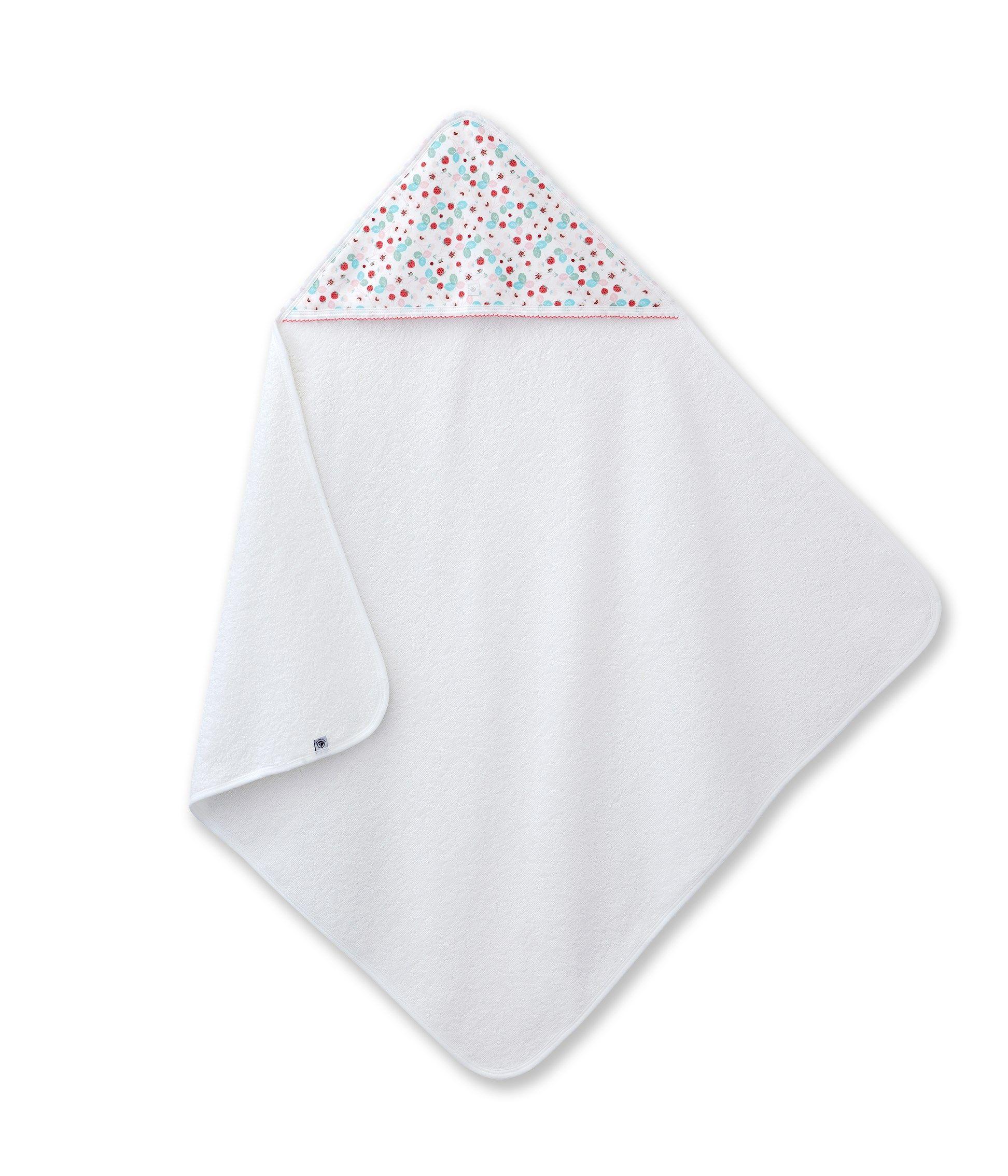 carr de bain b b fille imprim fraises blanc petit bateau cadeaux de naissance moins de. Black Bedroom Furniture Sets. Home Design Ideas