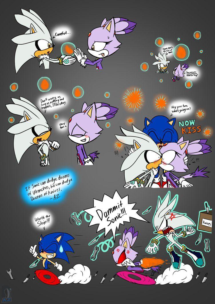 Dammit Sonic! - Silver and Blaze by AZ-Derped-Unicorn ... - photo #19