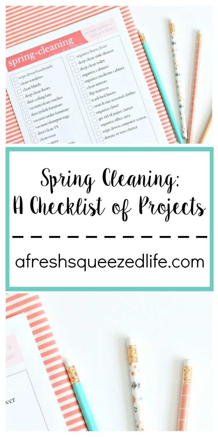Spring Cleaning time is here! Let me give you some tips to get your started, and sign up for my newsletter to receive this adorable checklist!
