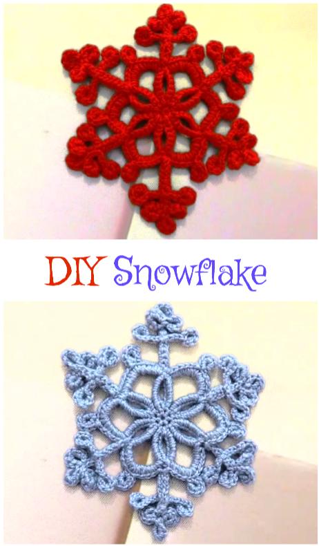 DIY Snowflake   MSM   Pinterest   Ganchillo, Navidad y Flor