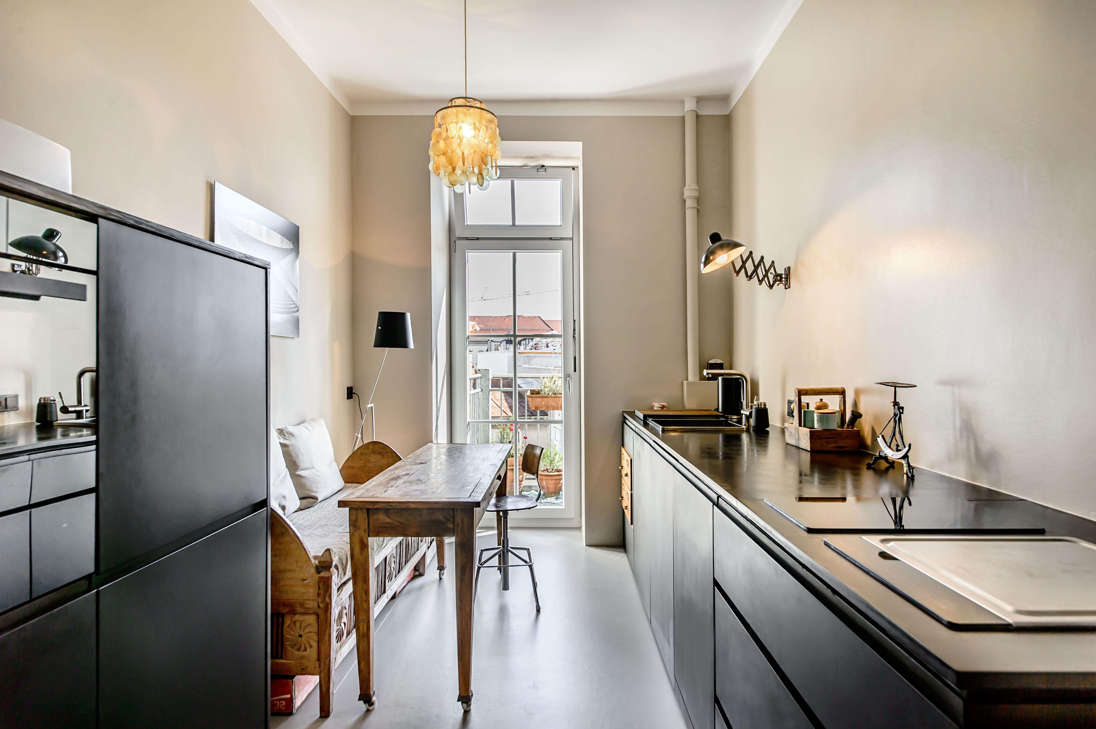 Nett Küche Mit Schwarzen Geräten Dekoration Ideen - Küche Set Ideen ...