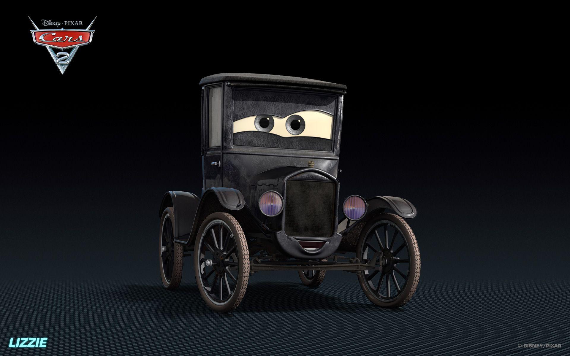Lizzie Played By Katherine Helmond Who Was Born July 5 1929 Disney Cars Characters Disney Pixar Cars Pixar Cars