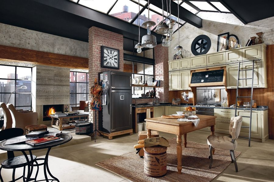 d coration style loft industriel. Black Bedroom Furniture Sets. Home Design Ideas