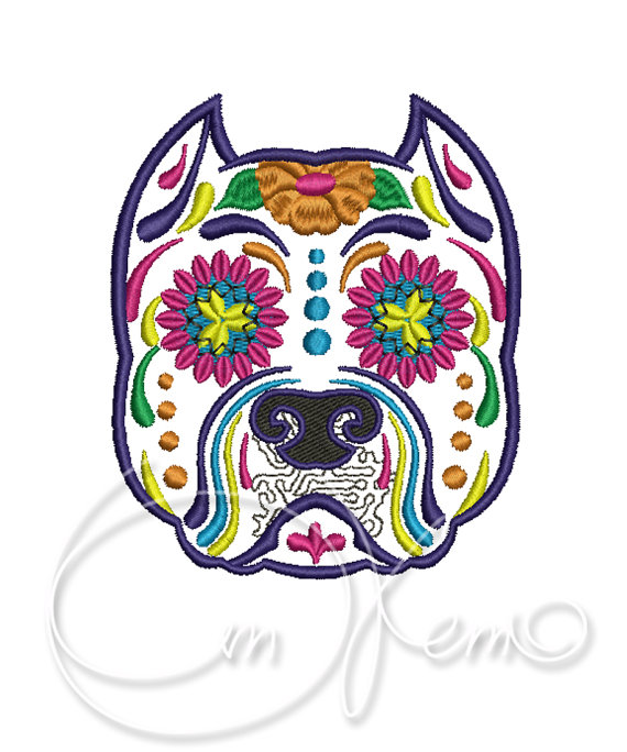 Mexican Day Of Dead Dog Tattoo