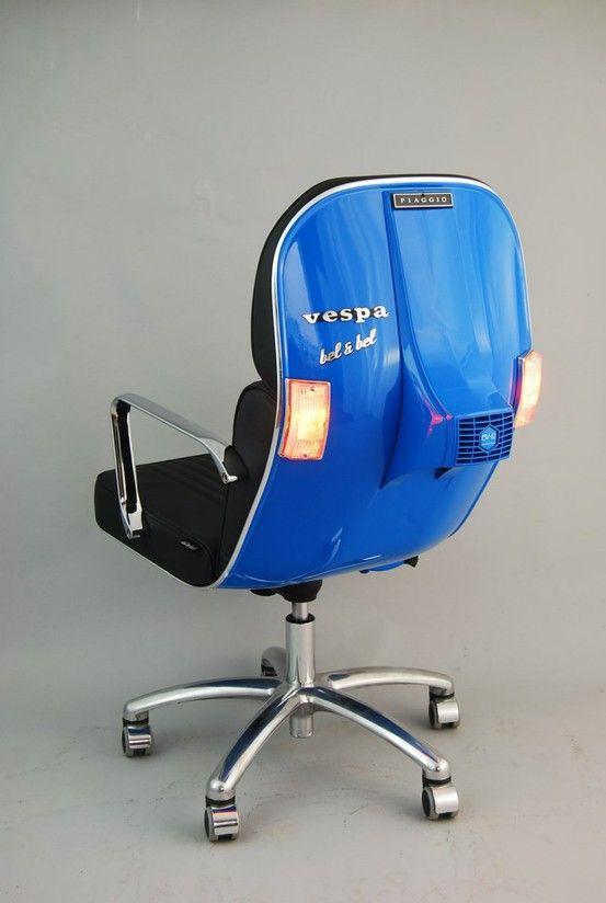 BlueDos Ruedas De Oficina Vespa Chair Diseño Y VespaSillas dthQsr