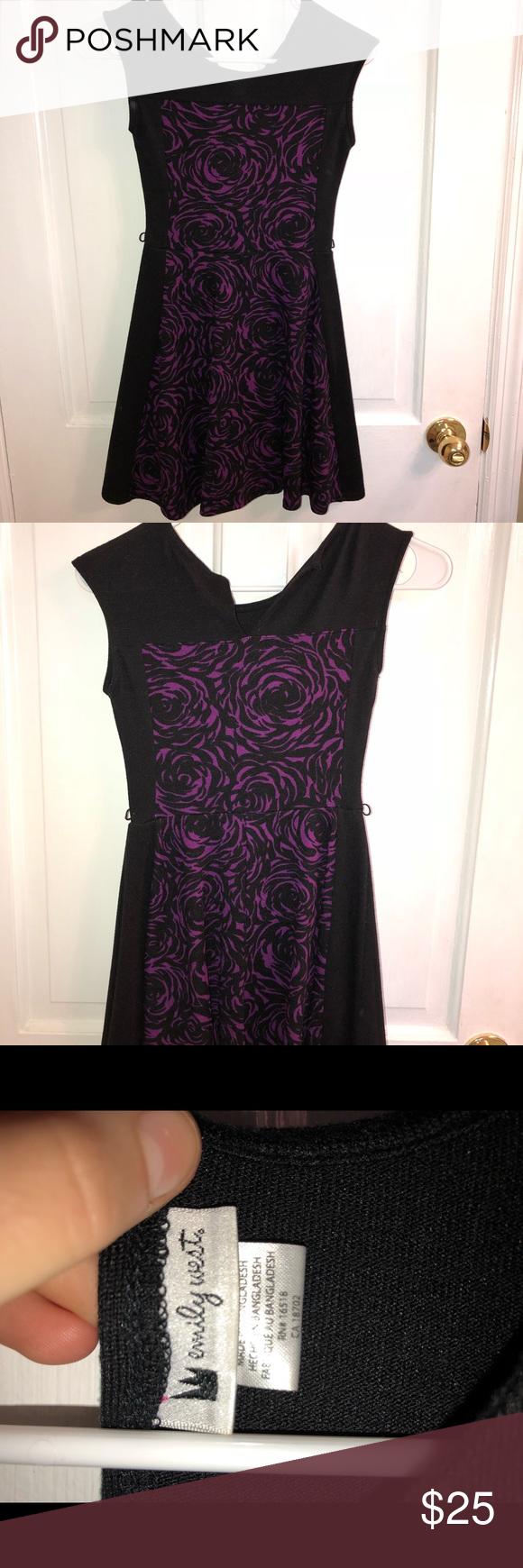 Girls emily west dress worn twice looks new good quality purple and