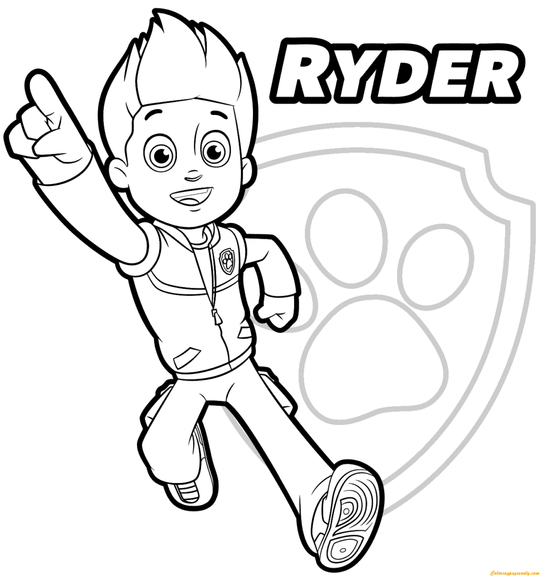 Coloring Rocks Paw Patrol Coloring Pages Paw Patrol Coloring Ryder Paw Patrol