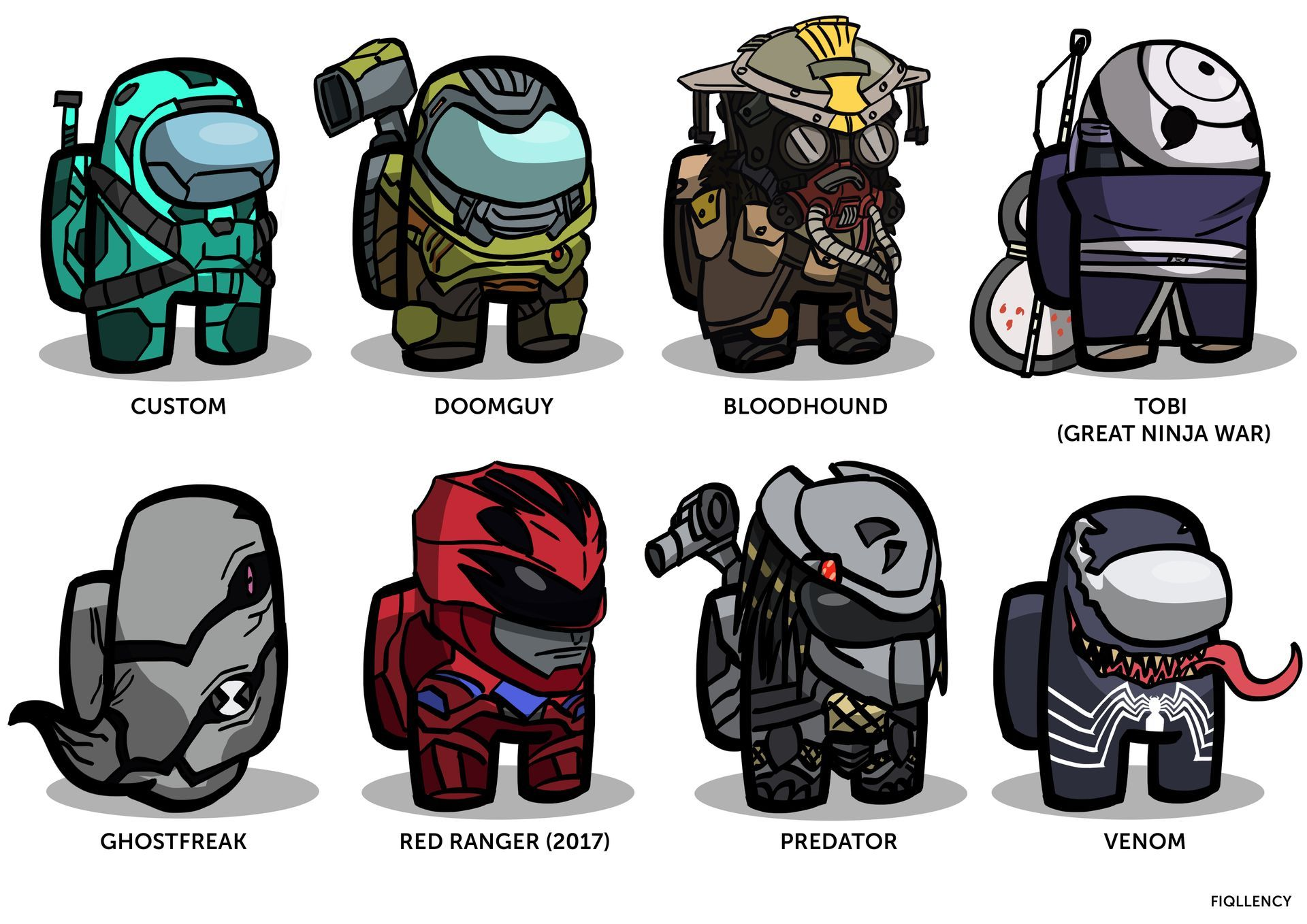 Among Us Custom Skins By Fiqllency On Deviantart Jake The Dogs Drawing Superheroes Character Design