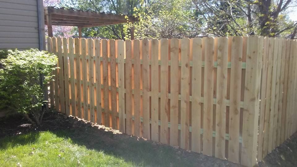 6 ft tall Shadowbox Fence in Pine