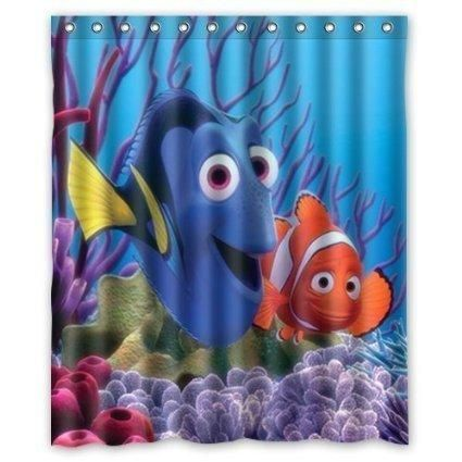 Anime Dory Finding Nemo Shower Curtain Curtains Fabric Shower Curtains Shower