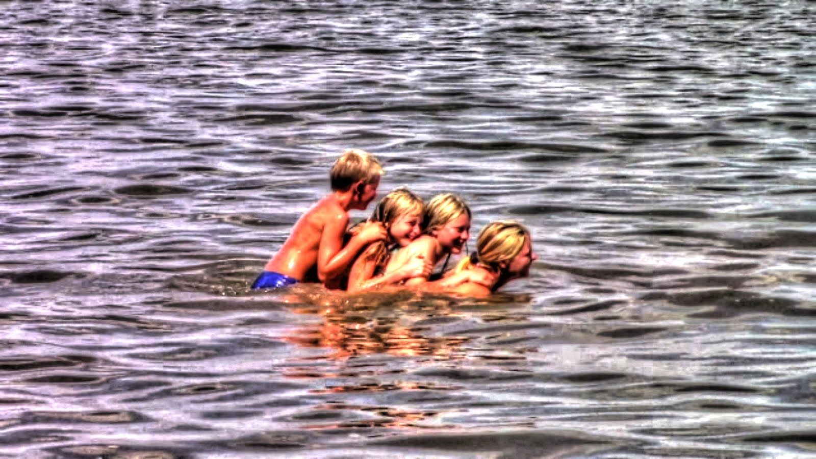 Kids Swimming In A Lake kids swimming and playing in the lake | homestead kids | videos