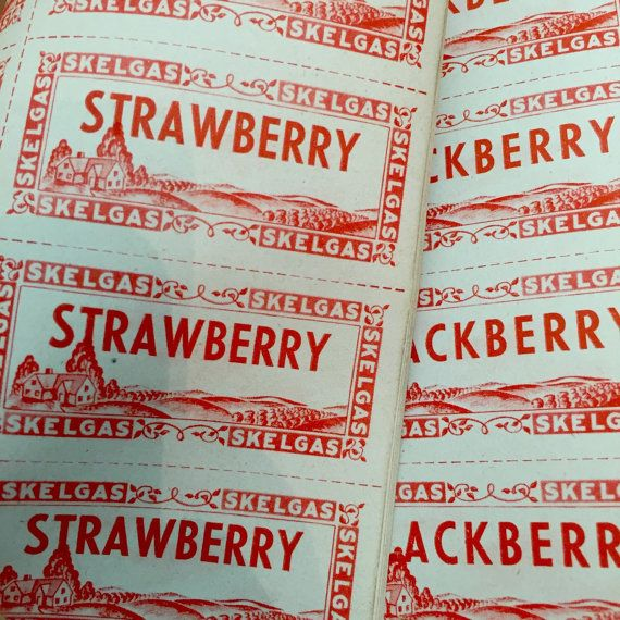 15pcs VINTAGE CANNING LABELS Strawberry by