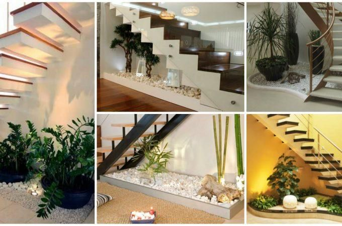 Decorate Your Homes With These Under Stair Indoor Gardens | Outdoor Garden Under Stairs | Small | Crosstie | Gardening | Landscaping | Lawn