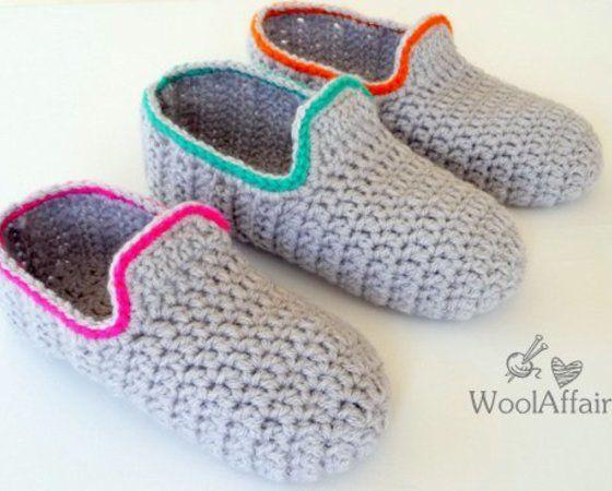 Häkelanleitung Hausschuhe häkeln Loafers für Erwachsene