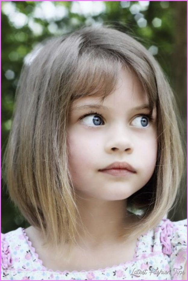 Nice Young Girl Haircut With Bangs Kids Pinterest Girl