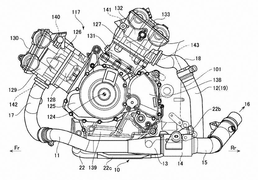 Patent Drawing Reveals New Suzuki Litre-class V-twin
