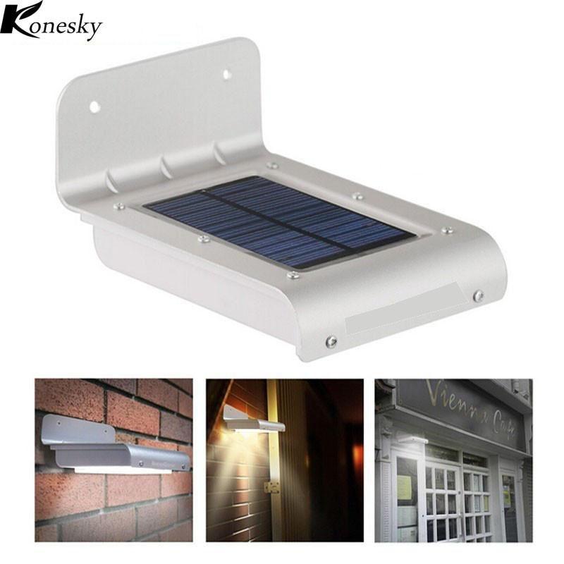 24 Led Solar Outdoor Light Panel Powered Motion Sensor Led Lamp