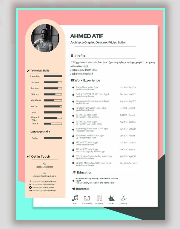 Resume Template by Ahmed Atif | UQU | Pinterest | Template, Cv ...