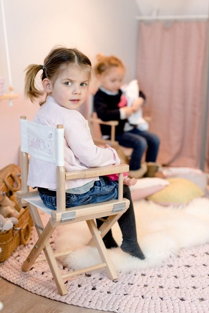 Chaise De Cinema Enfant Ma Premiere Etoile Sur Toile Blanche Cinema Enfant Enfant Metteur En Scene