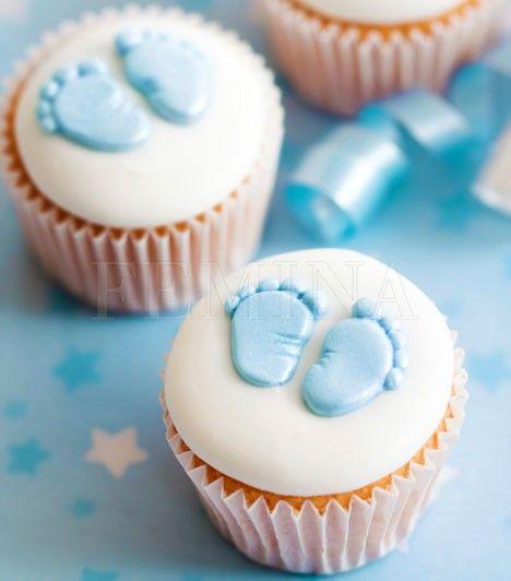 Cupcakes für die Babyparty<3