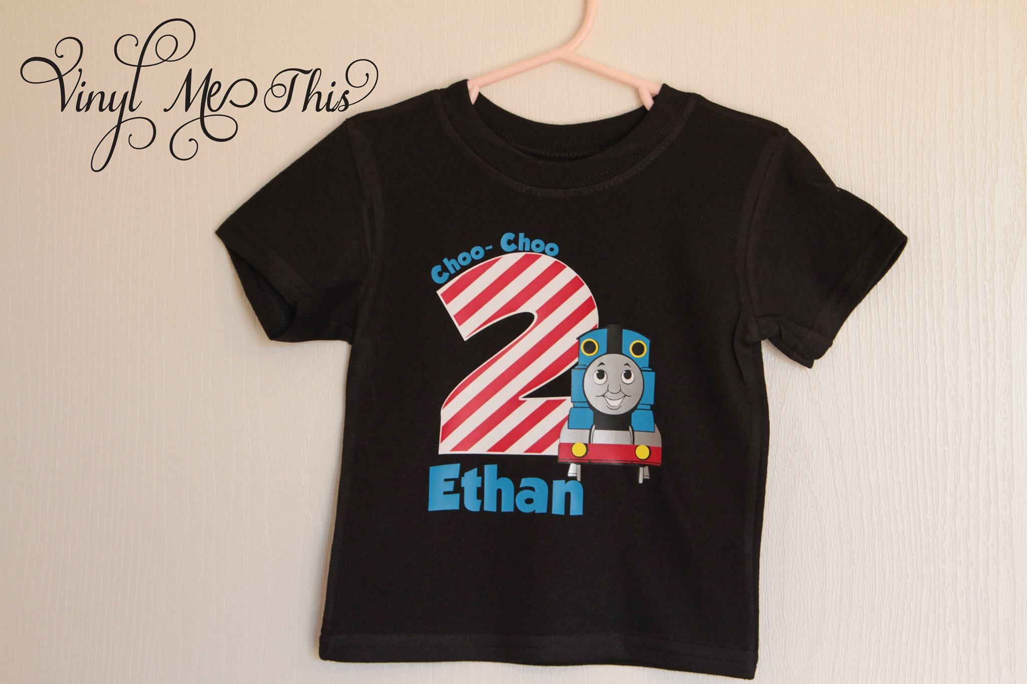 Heat Transfer Vinyl Choo Im 2 Thomas The Train Birthday Shirt