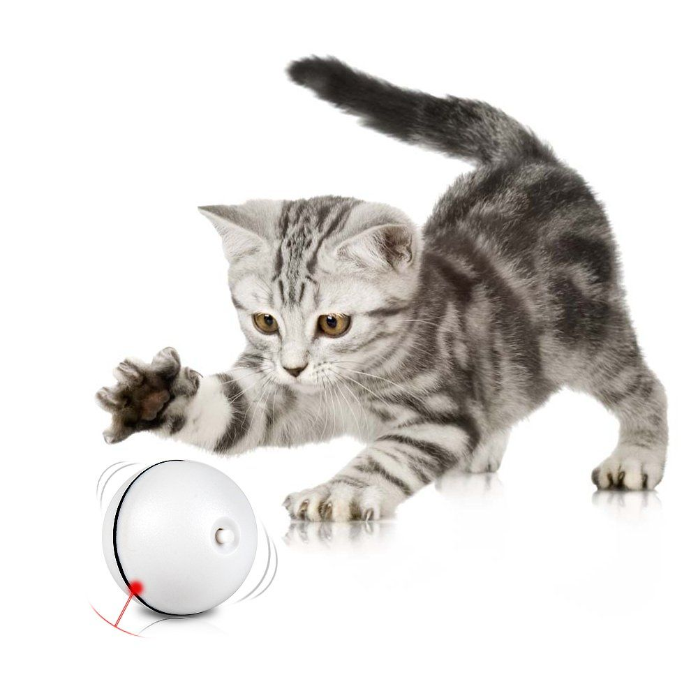 Snuffles 2in1 Interactive Cat Toy 360 Degree Self Rotating Ball W Red Laser Light Toy For Pet Batteries Included 2 Packs Cat Toys Interactive Cat Toys Cats