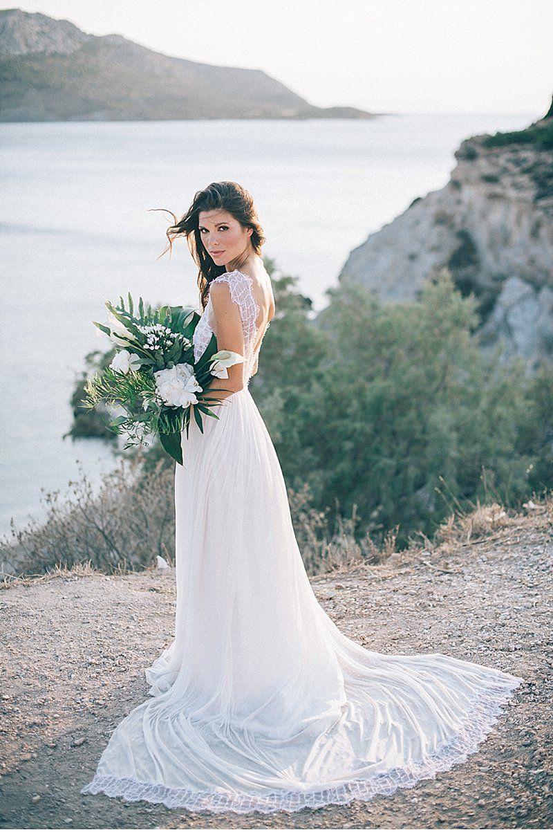 Bohemian elopement an der griechischen küste von sand u lace und
